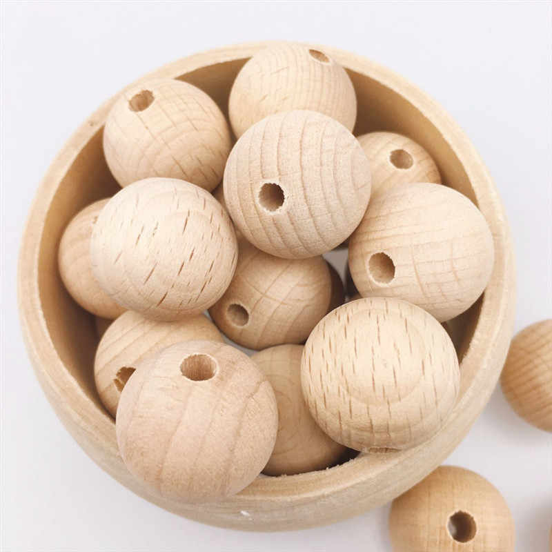 2019 10-150PCS New Fine Quality Unfinished Wooden Beads 8-20mm Teething Beads Round Wood Teether Beads For Baby Care Toy Jewelry
