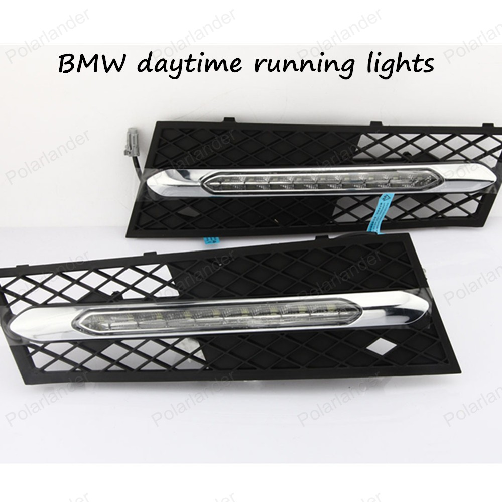 ФОТО Free Shipping High Quality Car Special LED DRL For BMW 5 Series 11-13 Daytime Running Light ,Driving/ Fog Lamp