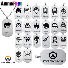 21 style Hot New Game Overwatch Jewelry Pendants Necklace Tracer Reaper OW key Chains Entertainment Logo Key Holder Necklaces