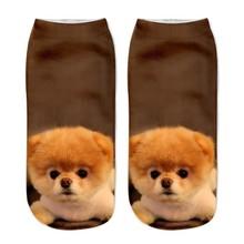 1pair New Dog Kids Short Toddler Socks Hot Sale 3d Printed Children Girls Boys Teenagers Low Cut Ankle