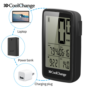 Image 2 - CoolChange Bicycle Computer Rainproof Wired and Wireless Cycling Computer Speedometer Odometer USB Rechargable MTB Bike Computer