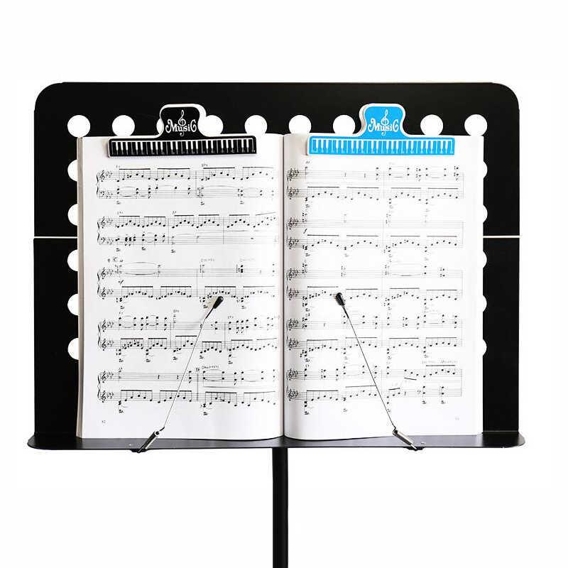 1 sztuk 15cm plastikowe partytura naprawiono klipy książka uchwyt na papier do gitary skrzypce fortepian gracz plik biurowy klipy materiały biurowe