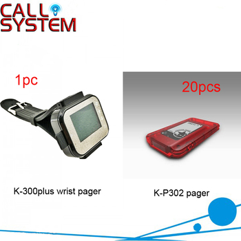 20 pagers 1 wrist pager Electronic guest pager system queue management system