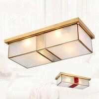 Billy Haodi retro teto luzes da sala de estar lâmpadas quarto Americano lâmpada de cobre cheio lâmpada lâmpadas do teto de cobre Europeia YA7275