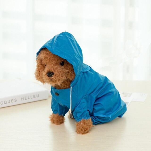 b731c0f26 Capa de chuva cão pequeno filhote de cachorro roupa do cão Teddy VIP pet  poncho pernas