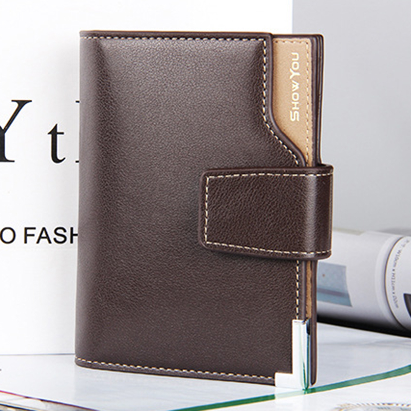 New Fashion Leather Men Wallets Luxury Brand Design Wallets Coin Pocket Purses Gift For Men Card Holder Bifold Male Purse anime cartoon wallets bifold game pokemon go pikachu wallet for teenager women men pocket monster purse coin purses holders