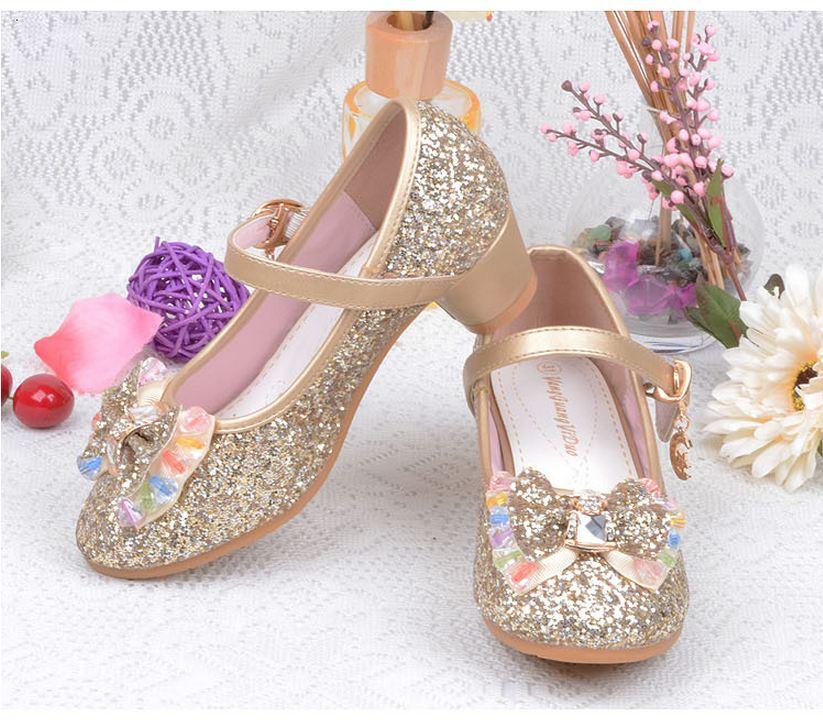 Click here to Buy Now!! Весна Осень Дети Обувь для девочек Высокие каблуки принцессы  Обувь модные вечерние тонкие туфли ... 90b796bf95a