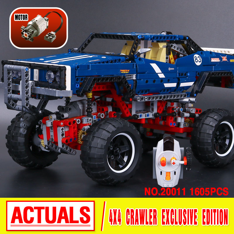 lepin 20011 1605pcs technic remote control electric off-road vehicles Educational building block compatible 41999 birthday gifts advanced intelligent vehicles control