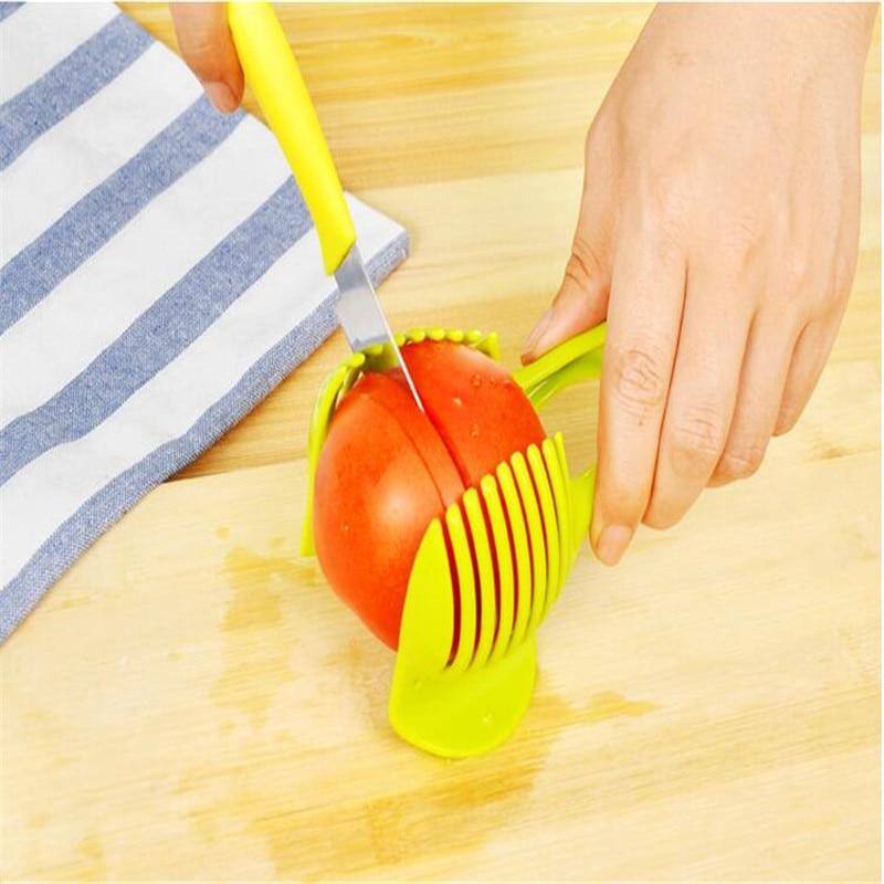 pc tomate trancheuse fruits cutter stand tomate lemon cutter utensilios de cozinha assistant fln shreadders