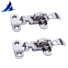 2X Boat Locker Hatch Anti Rattle Latch Fastener 316 Stainless Steel 4-3/8″ Globa