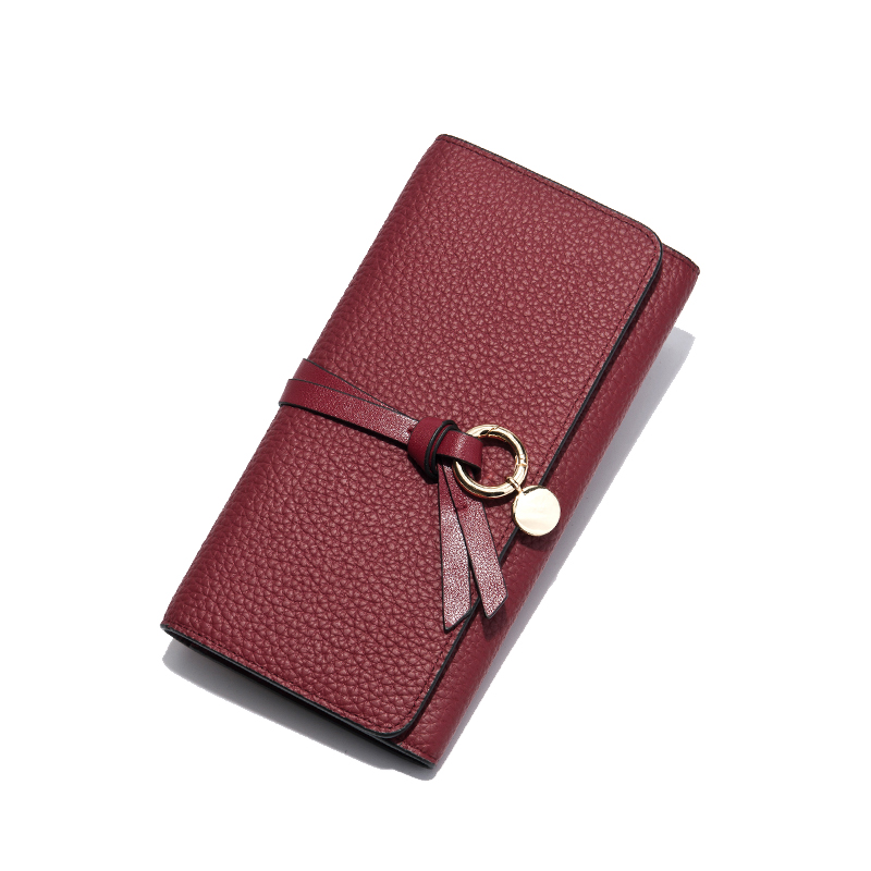 Wallet Women Luxury Brand Cow Genuine Leather Real Long Wallet Thin Designer Purse Clutch Female Slim Pendant Money Clip Wallets new brand genuine leather purse for women real leather women s wallet clutch bag women long wallet purse carteira 2016