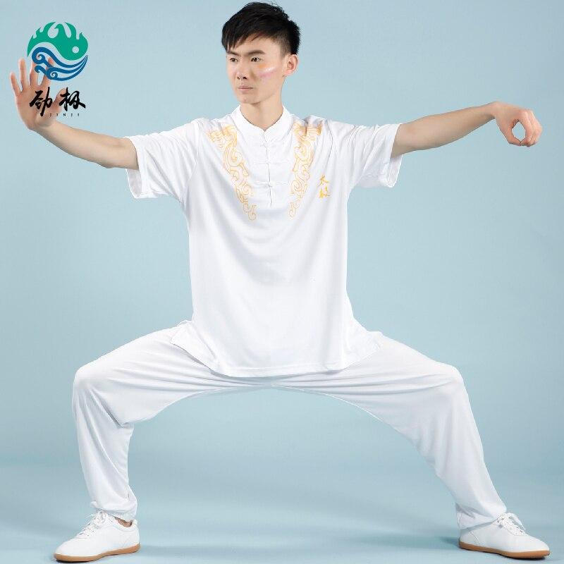 ̿̿̿(•̪ )Hecho a mano de Manga Corta Uniforme Tai Chi Wushu, Kung Fu ...