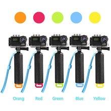 Galleggiante Hand Grip Galleggiabilità Rod Pole Stick Monopiede Treppiede per Gopro Go Pro Hero 8 7 6 5 4 3 xiaomi Xiomi Yi 2 4 K 4 K Macchina Fotografica di Azione