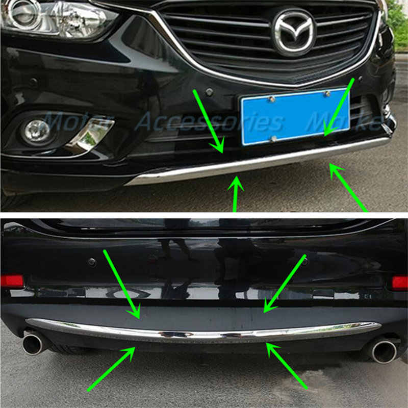 New Chrome Front Rear Bumper Lower Molding Cover for Mazda 6 2014 2015