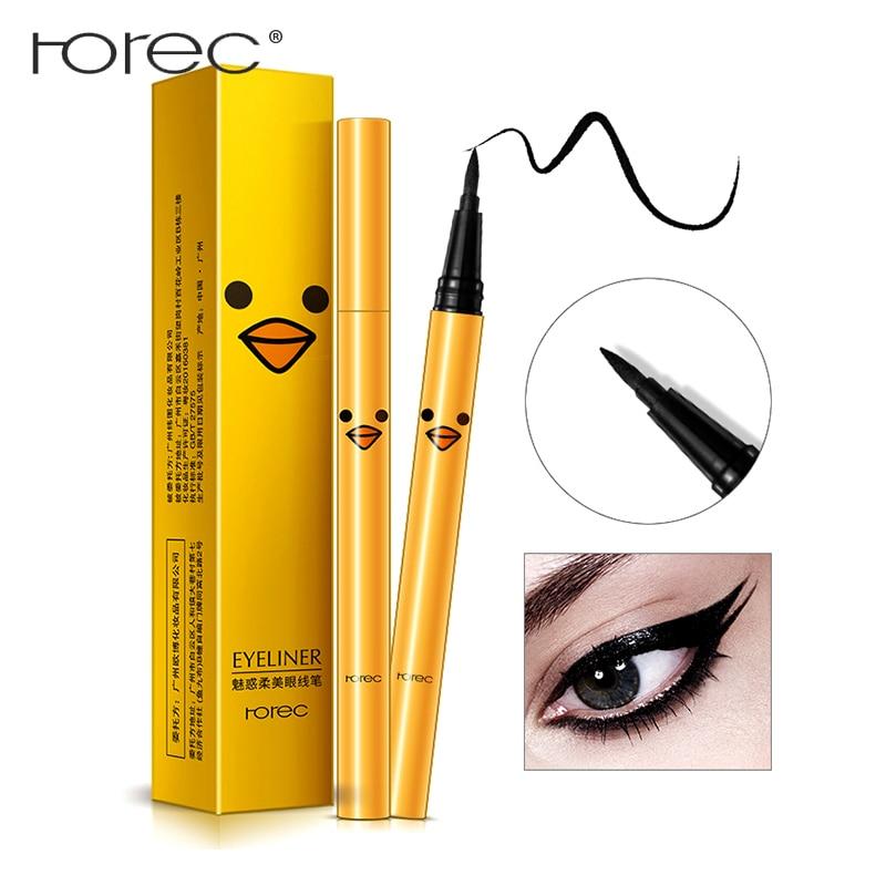 ROREC Make Up Eyeliner Pencil Waterproof water resistant Longlasting Quick Dry easy to wear Silk Black Liquid eyeline pen in Eye Shadow Liner Combination from Beauty Health