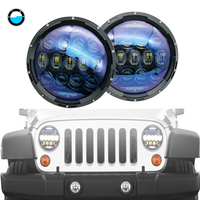 For Jeep TJ JK 7 Inch 130W Led Headlights 130W Hi Low Beam DRL Turn Signal