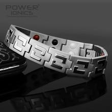 Power Ionics 100% Titanium 4 in1 Multifunction Bracelet Balance Body Energy Free Shipping цена