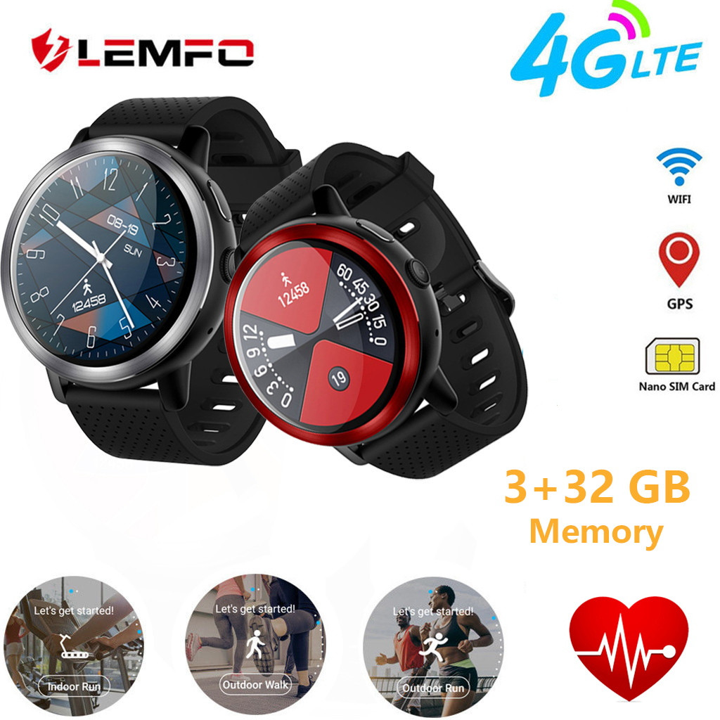 TOP New LEMFO LEM8 Blue-tooth Smart Watch 4G WiFi 32GB Camera Heart Rate For Android/iOS Portable Waterproof Fashion Smart Watch