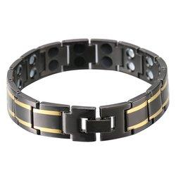 Genboli unique simple design health magnetic black charm bracelets titanium steel for women men luxury jewelry.jpg 250x250