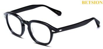 406381cb06 Monturas de gafas negras de tamaño pequeño Vintage con borde completo  Johnny Depp