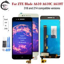 ZTE A610 용 전체 LCD 터치 스크린 어셈블리 ZTE Voyage 4 블레이드 A610C A610T BA610 318 241 Ver. 디스플레이 센서 디지타이저 패널