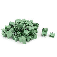 20 Pair 3 Position 5 08mm Pitch Male Female PCB Screw Terminal Block Connectors