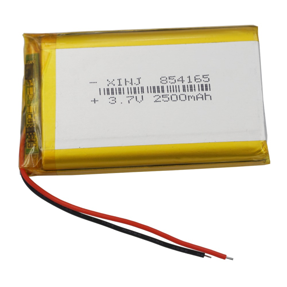 XINJ <font><b>3.7V</b></font> <font><b>2500mAh</b></font> Li lithium polymer <font><b>battery</b></font> <font><b>Lipo</b></font> li ion cell Li ion li po cell 854165 For E-book PAD MID Portable DVD Tablet PC image