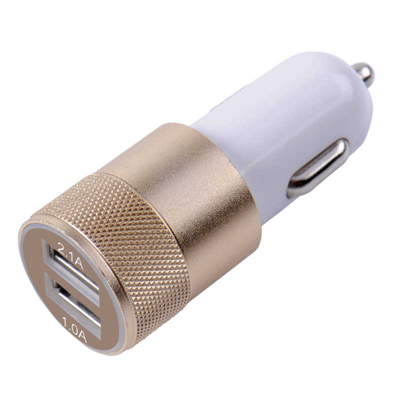 Dual USB Car Charger Adapter 3.1A Auto Vehicle Metal Charger For Smart Phone/Tablet