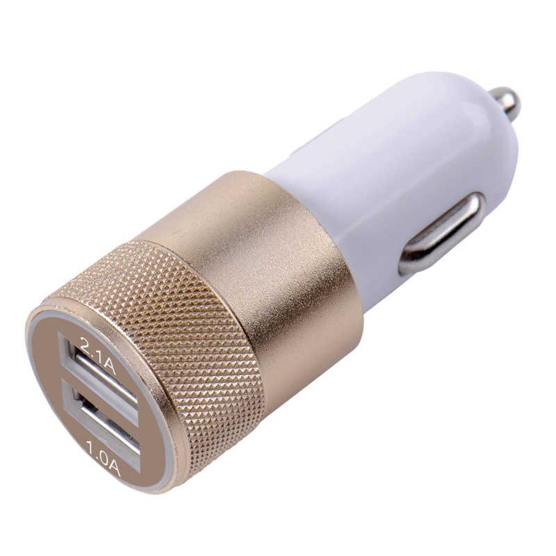 المزدوج USB سيارة مهايئ شاحن 3.1A السيارات السيارة المعادن شاحن ل هاتف ذكي/اللوحي