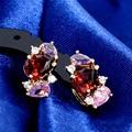 Clásico al por mayor de Flash Pendientes de Aro de Oro Multicolores Plateados AAA CZ Pendientes de La Manera Brincos Bijoux para Mujer1