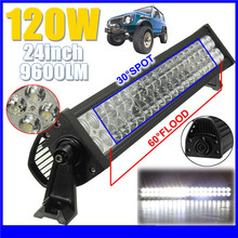 2016 New 12-30V 24 INCH 120W SINGLE ROW LED LIGHT BAR – COMBO LIGHTBAR – FREE 12V WIRING