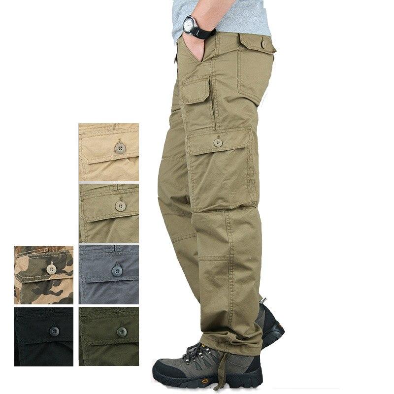 Marque Printemps Hiver Tactique Pantalon Hommes Casual Camo Militaire Homme Pantalon Long Coton Kaki Pantalon Cargo Hommes Pantalones Hombres