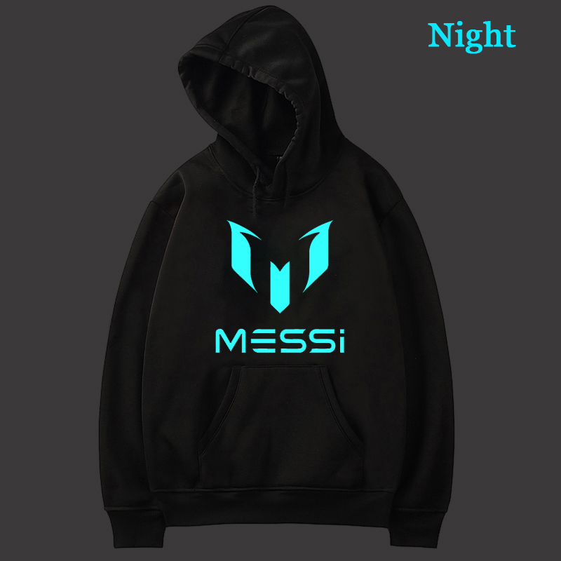 Men Women Messi 10 Luminous Hooded Hoodie For Teens Fashion Graphic Hoodie Tops Men Women Streetwear Pullover Gifts Sweatshirt