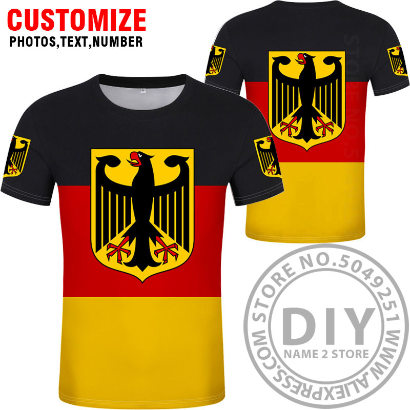 Image 2 - GERMANY t shirt free custom diy name number deu t shirt nation flag de country german bundesrepublik college print photo clothes-in T-Shirts from Men's Clothing