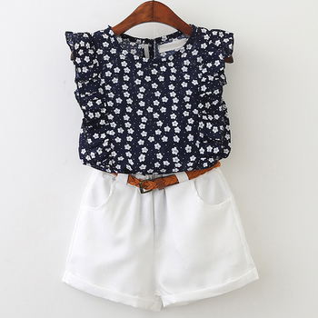 Floral 2 Pieces Suite For Girls 1