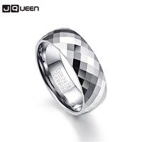 8 мм для мужчин кольцо 100% карбида вольфрама многогранный для мужчин ювелирные изделия обещание группа Anillos para hombres бойфренд Pierscienie