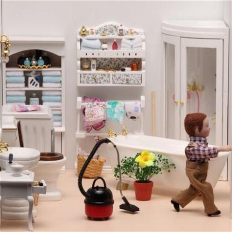 DIY Vacuum Cleaner Dollhouse Miniature 1:12 Scale Fairy Doll Home Life Scene