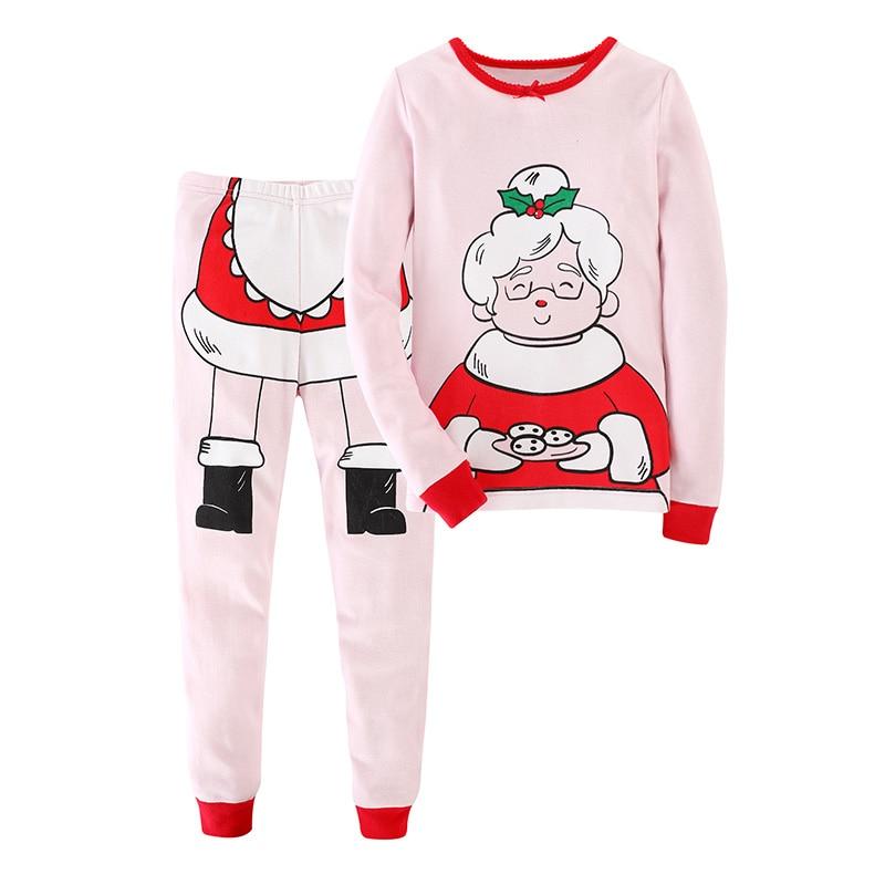 Christmas Long Sleeve Home Clothes 2019 Latest Christmas Children's   Pajamas     Set   Cotton New Years Sleepwear   Pajamas   Suit Unisex