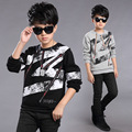 Pullovers for Boys Winter Bottoming Shirts Children Velvet Clothes Infants Warm Clothing Thick Uniforms Shirt 4T 6 8 10T 12 Tops