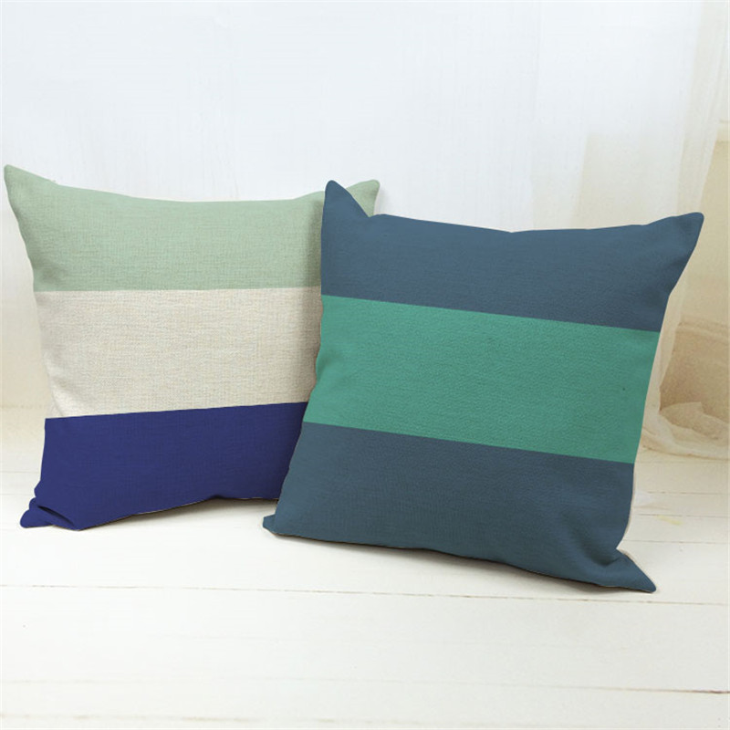 Hot sell colors of classic stripe sofa pillowcase car waist pillowcase Office cushion cover without Pillow core
