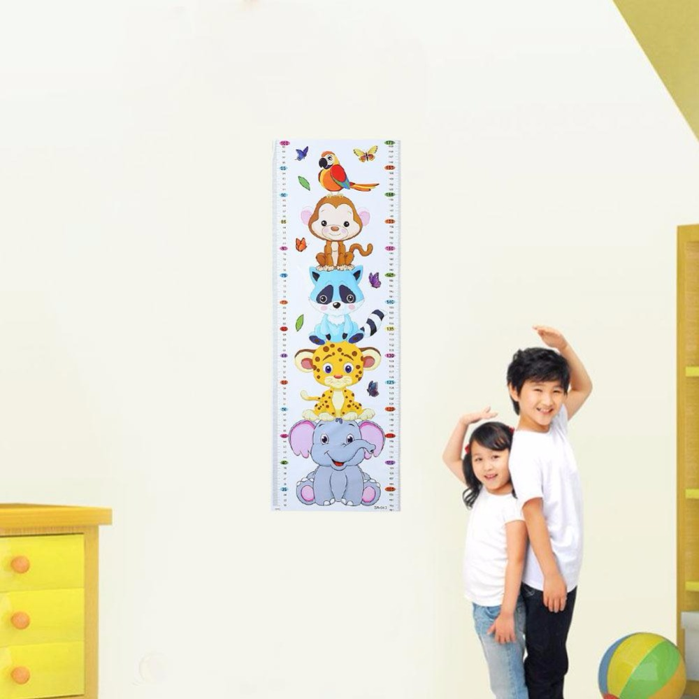 Cartoon pvc kids height chart wall stickers home nursery bedroom cartoon pvc kids height chart wall stickers home nursery bedroom decor adesivo de parede stickers muraux pegatinas in wall stickers from home garden on amipublicfo Gallery
