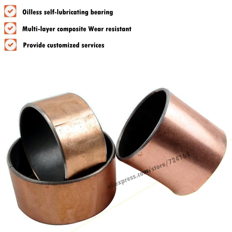 New 10pcs SF-1 2525 Self Lubricating Composite Bearing Bushing Sleeve 28*25*25mm