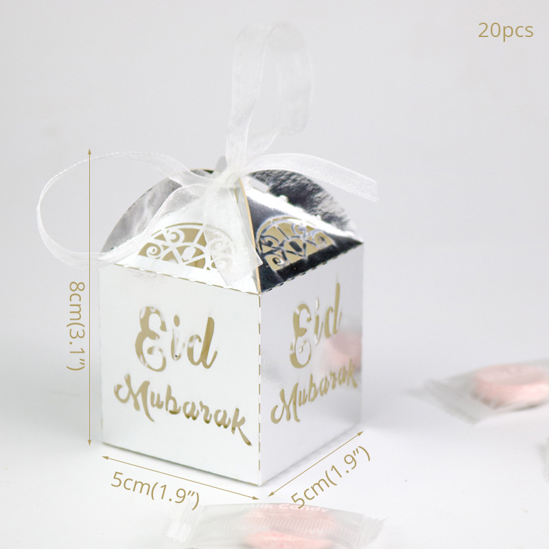 20pcs Paper Candy box Ramadan Decoration Eid Mubarak Gift Box Ramadan Kareem Party Decor Islamic EID Muslim Festival Supplies