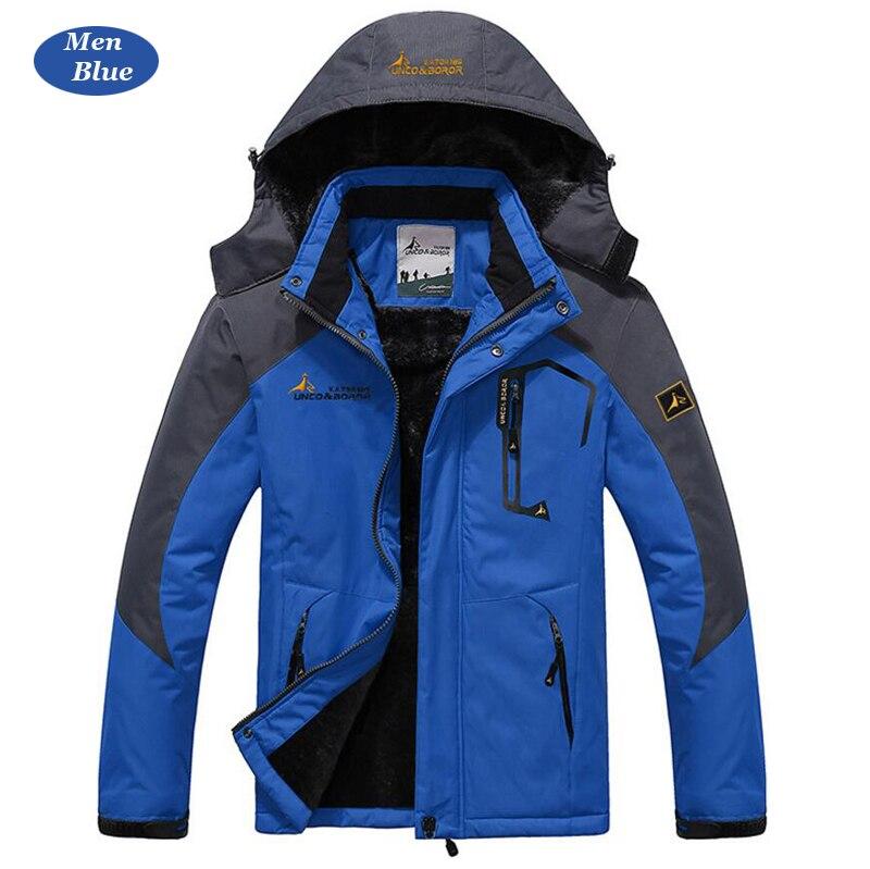 UNCO&BOROR winter jackets men women`s outwear fleece thick warm cotton down coat waterproof windproof parka men brand clothing 14