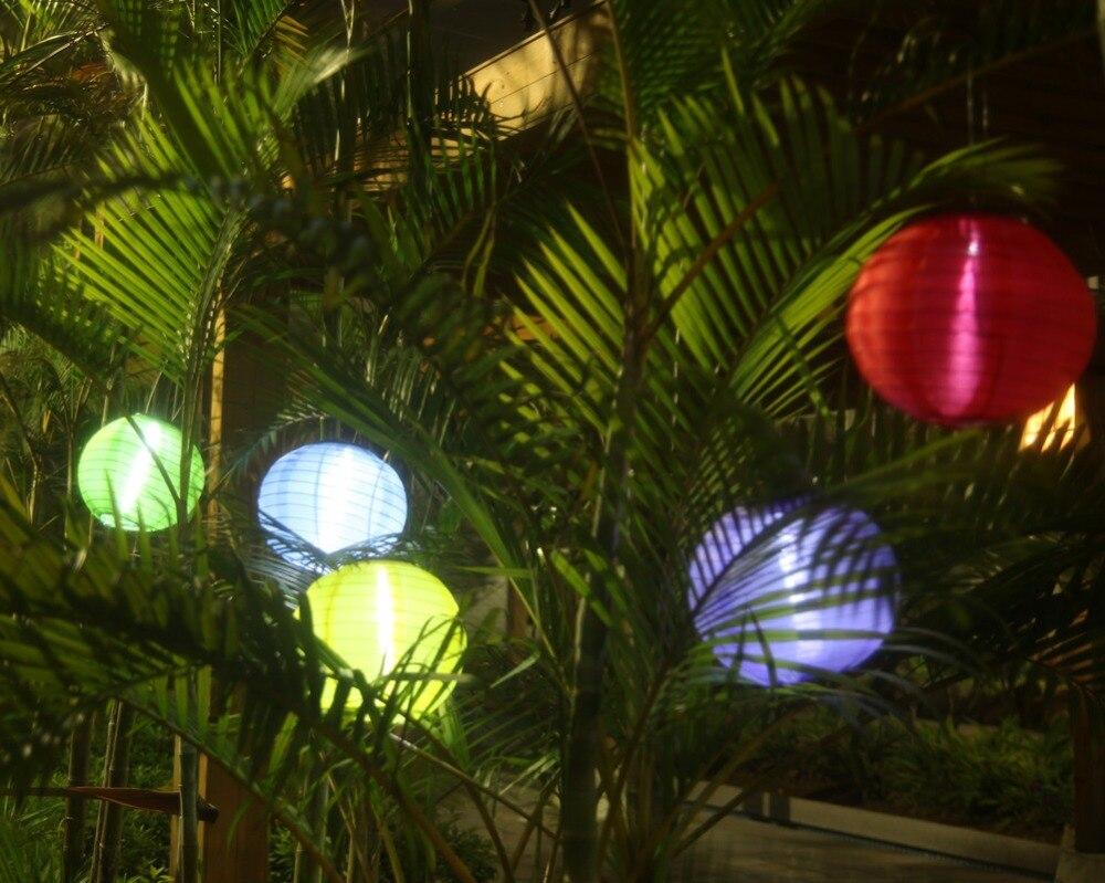 Pearlstar 5 pz 5 colori palla lanterna decorativa luci solari led