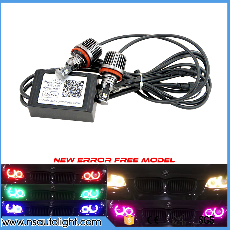 2Pcs Wifi control Cree chips 36w LED Halo Light H8 LED Angel Eyes for BMW E60 E61 E90 E92 E70 E71 E82 E89 1 3 5 Series X5 X6 Z4