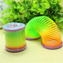 Classic Toy Hot Selling Random Color Magic Plastic Slinky Rainbow Spring Colorful Funny For Children