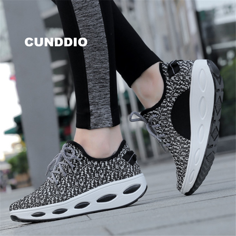 2018 Casual shoes Sneakers women outdoor woman wedge fashion Breathable mesh joker girl leisure tenis femininocasual size 35-40