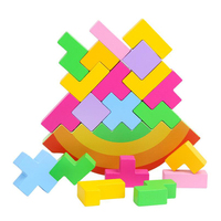 Balancing Frame Toys Baby Early Learning Toy Montessori Teaching Bear Balance Colorful Early Development Wood Blocks Toys