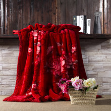 4.5kg Raschel blanket thicker for winter double layers flower 3D thickening bed cover wedding bedding set blankets throws 7890
